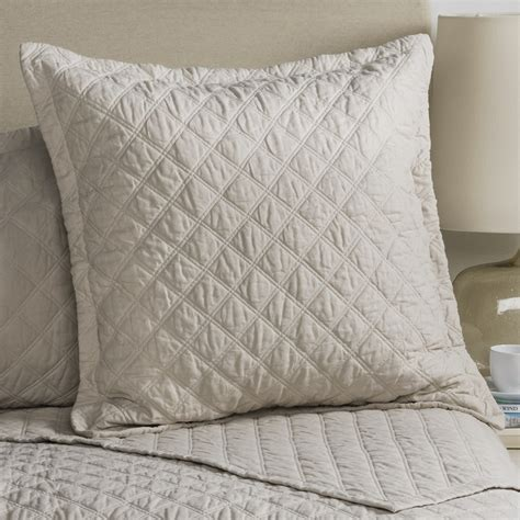 Blue Quilted Pillow Shams by Fleur De Lis Blue Quilted Pillow Sham