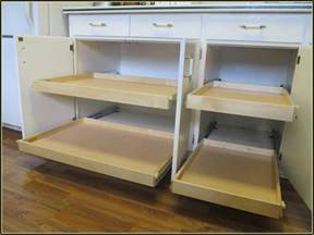 Kitchen Cabinets Pull Out Shelves by Diy Pull Out Shelves For Kitchen Cabinets Home Design Ideas