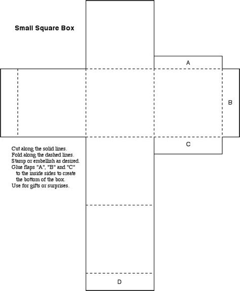template for small gift box small gift box templates