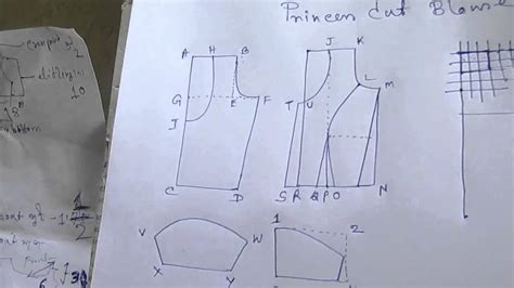 pattern making of princess cut blouse princess cut blouse measurement drafting pattern layout