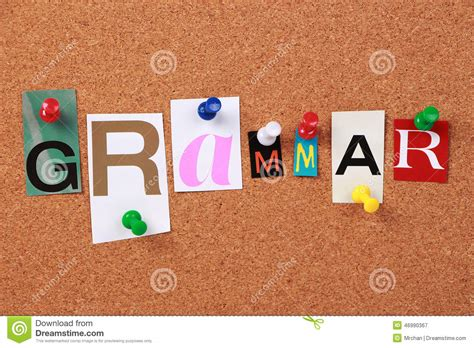 5 Letter Words From Grammar grammar single word stock photo image 46990367