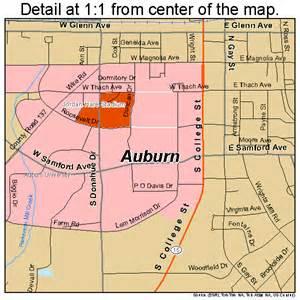 auburn alabama map 0103076