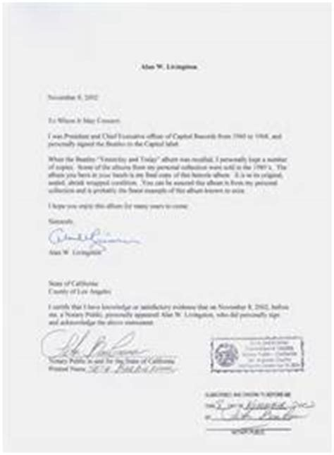 notarized authorization letter template sle notarized letter letter of recommendation