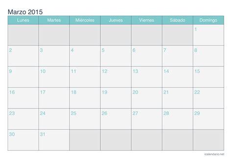 Calendario Marzo 2015 Calendario Marzo 2015 Para Imprimir Icalendario Net