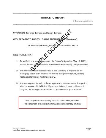 Confidentiality Agreements Templates notice to repair usa legal templates agreements