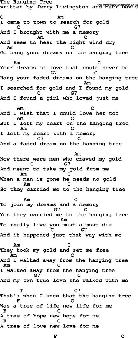 hanging tree hanging tree lyrics www imgkid the image kid has it