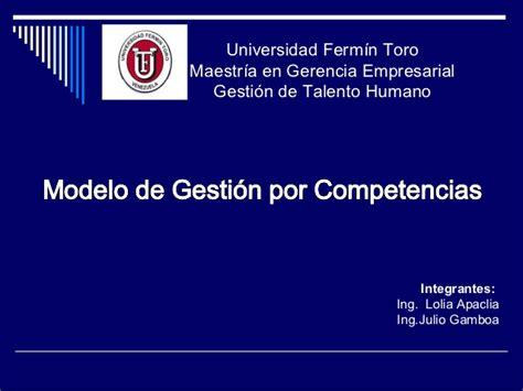 Modelo De Curriculo Por Competencias Modelo De Gestion Por Competencias