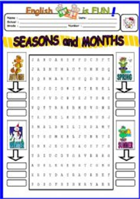 printable word search thailand english worksheets seasons and months wordsearch