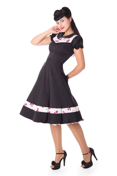 swing kleidung sugarshock eileen 50s retro strawberry polka dots swing