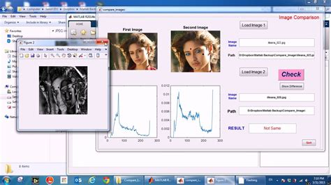 compare  images matlab code youtube
