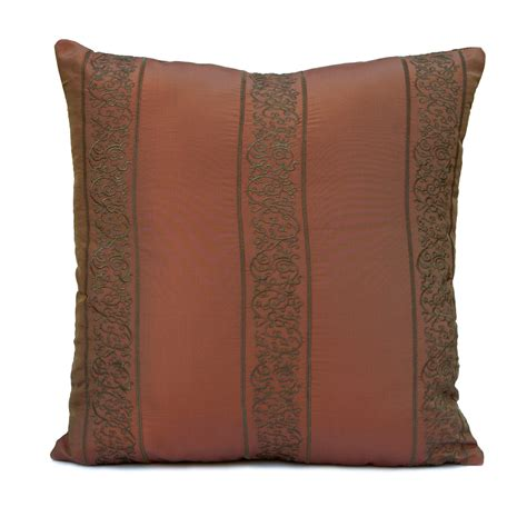 How To Clean Silk Pillows by Copper Rust Pillow Throw Pillow Cover Decorative Pillow
