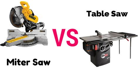 miter saw vs table saw compare miter saw vs table saw a thorough guideline for