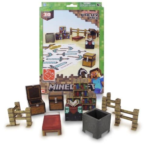 Minecraft Papercraft Sets - minecraft papercraft utility pack by minecraft minecraft
