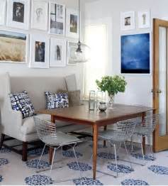 Dining Room Seating Cococozy Blue And Grey All The Way In A Small Victorian