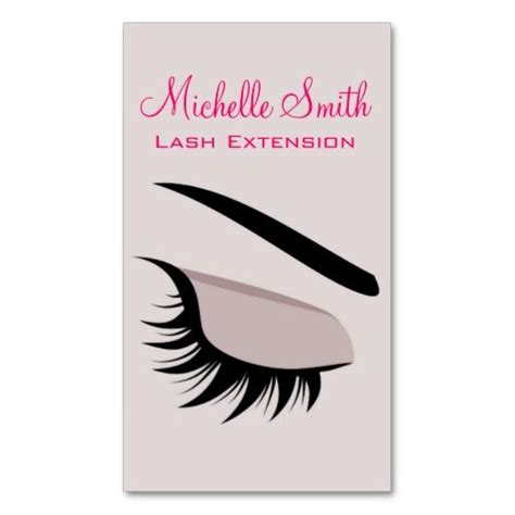 Eyelash Extension Business Card Template by Eye With Lashes Lash Extension Business Card Business