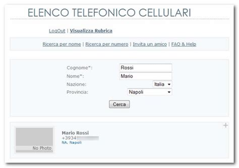 elenco telefonico mobile come trovare numero cellulare su