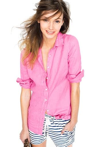 Pink Style Stripe Casual Top 24627 17 best images about fashion swipe on kate spade saturday slouchy and jcrew
