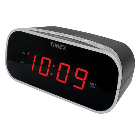 Alarm Clock timex audio 174 t121b alarm clock black