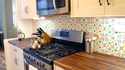 install a rental friendly removable kitchen backsplash