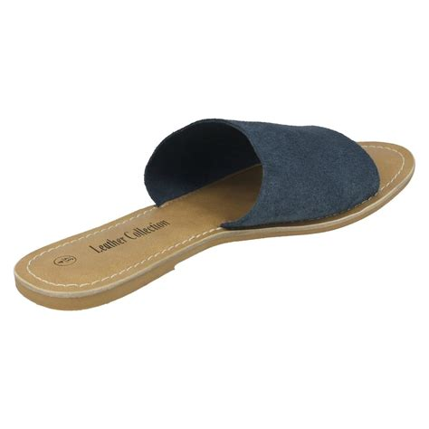 mule sandals for leather collection style 072 flat mule sandals ebay