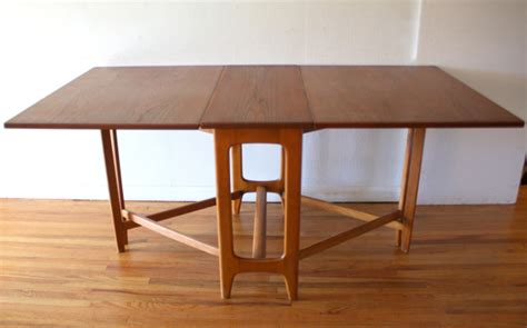 Folding Dining Table 2 Picked Vintage Mid Century Modern Gateleg Dining Table Picked Vintage