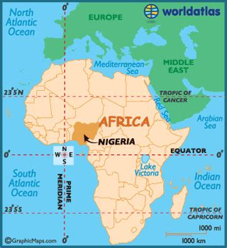 nigeria map / geography of nigeria / map of nigeria