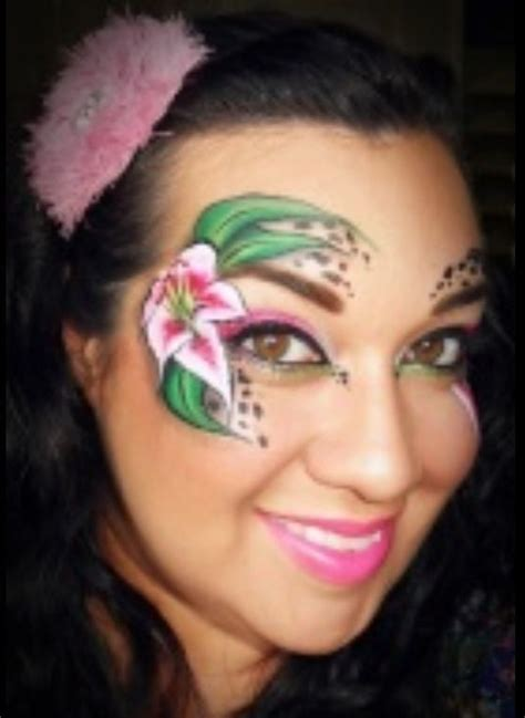 flower makeup painting flower painting