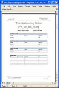 troubleshooting guide template ms word 12 pages amp free
