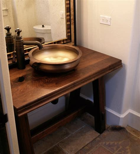 Build A Floating Vanity by Sink Cutouts In Custom Wood Countertops