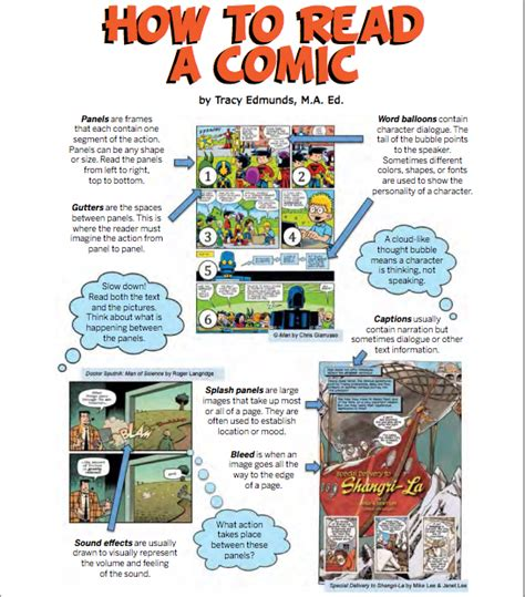 how to read comics spark learning with comics across the curriculum