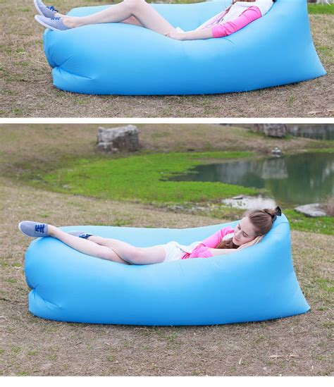 inflatable beach bed single hammock fast inflatable air outdoor cing beach