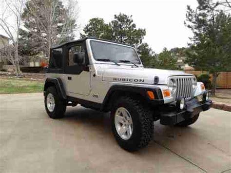 silver jeep 2 door buy used 2005 jeep wrangler rubicon sport utility 2 door 4