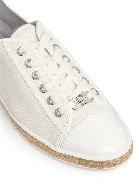 michael kors kristy sneakers michael kors kristy metallic leather canvas combo