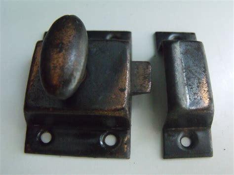 spring loaded cabinet latch vintage cabinet or door latch antique copper spring loaded