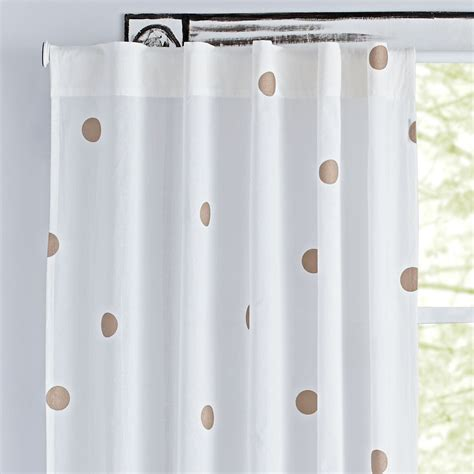 land of nod curtains 96 quot chagne dot curtain the land of nod