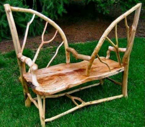courting bench rustic bent wood quot courting bench quot our hobbit home