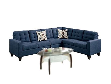 Contemporary Navy Blue Sectional Sofa Black Corner Sofa Modern Contemporary Polyfiber Fabric Modular Sectional Sofa Black Navy