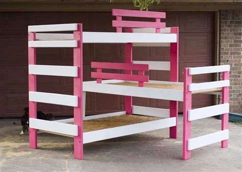 triple bunk beds hand made triple bunk bed by masters s touch woodshop