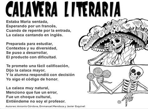ejemplos de imagenes literarias tradicionales m 233 xico lindo y querido calaveritas literarias