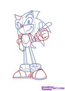 How to draw sonic the hedgehog step by step sonic characters pop