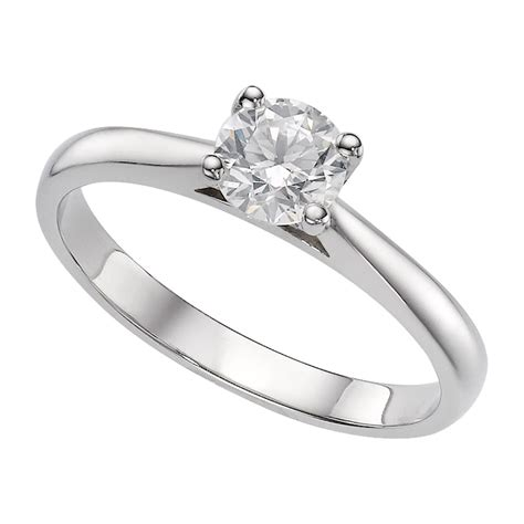 platinum 0 50 carat solitaire ring