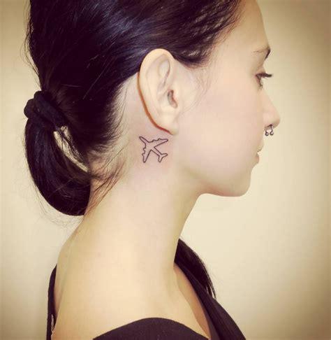 airplane tattoo behind ear 21 airplane tattoo designs ideas design trends