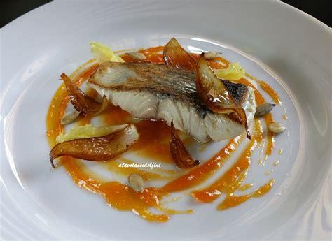 pesce serra cucina pesce serra su confettura di zucca e arance cipolla al
