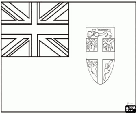 Fiji Flag Coloring Page free coloring pages