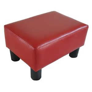 Ottoman Footstool Homcom Small Ottoman Footrest Leather Footstool Seat Rectangular Sofa Stool Ebay