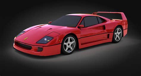 ferrari classic models 3d model classic ferrari f40