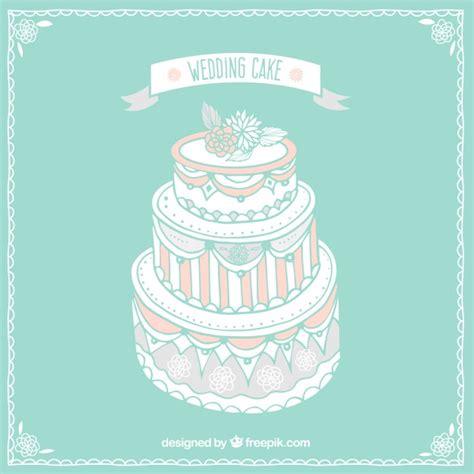 Wedding Cake Vector by Vintage Wedding Cake Vector Free