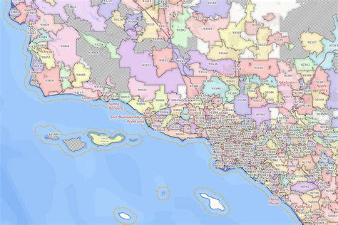 zip code map southern california custom mapping service information maptechnica
