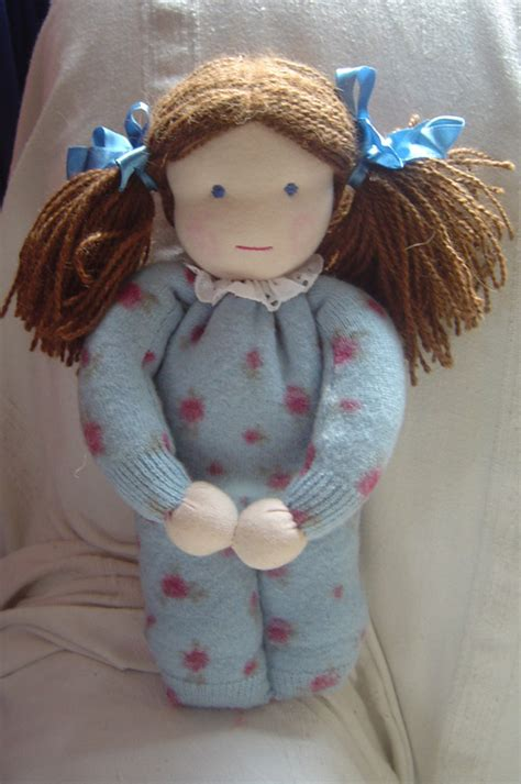 Handmade Doll Patterns - free pattern for how to make a waldorf style doll sewing