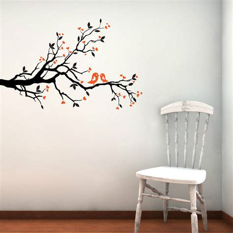 Yellow Grey Kitchen - love birds on blossom branch wall stickers by parkins interiors notonthehighstreet com